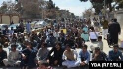 د ځوان ډاکټرانو سازمان احتجاج