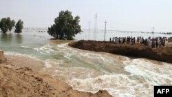 سيول مياه الأمطار في محافظة واسط