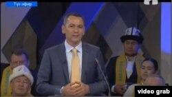 Өмүрбек Бабанов КТРКдагы дебат учурунда.