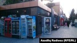 Торговые объекты на улице «Мира» в городе Сумгаит