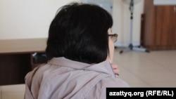 Гульзия Асанова (имя и фамилия изменены), пришедшая в полицию с жалобой на действия своего мужа. Шымкент, 24 апреля 2017 года.