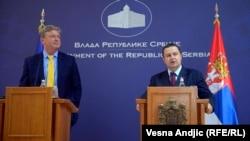 Štefan File i Ivica Dačić na konferenciji za novinare, 17. jul 2013.