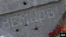 Памятник на могиле российского оппозиционного политика Бориса Немцова.