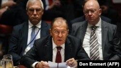 د ملګرو ملتونو عمومي اسمبلۍ کې د روس بهرنیو چارو وزیر سرګي لاوروف خبرې.
