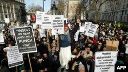 Londonda müsəlman etirazçılar, fevral, 2015-ci il