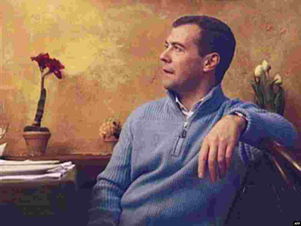 Casual Man - Despite his image as a softer, gentler Russian politician, Medvedev has shown he is not afraid to wield his influence. As head of Gazprom, he halted gas supplies to Ukraine in 2006 and recently threatened to do so again. While he has made few pronouncements on foreign policy, he is expected to follow the course set by Putin.