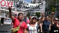 Protesta e farmacistëve dhe shërbyesve civilë në Athinë