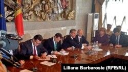 Semnarea Acordului pentru o Coaliție Guvernamentală Proeuropeană