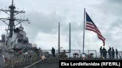 აშშ-ის სამხედრო ხომალდი ბათუმის ნავსადგურში