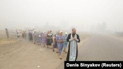 O procesiune religioasă în Rusia