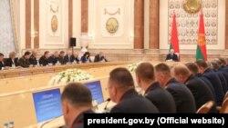 Аляксандар Лукашэнка выступае на нарадзе з кіраўнікамі праваахоўных органаў, 20 жніўня 2019