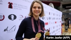 Ukrainian chess grandmaster Anna Muzychuk won two gold medals in the FIDE World Chess Rapid & Blitz Championships in 2016.