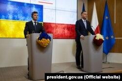 Президент України Володимир Зеленський і президент Польщі Анджей Дуда. Брюссель, 4 червня 2019 року