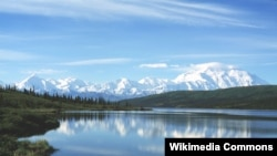 Mount McKinley and Wonder Lake in Denali National Park, Alaska