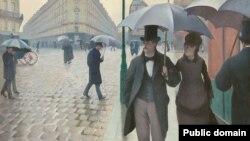 Гюстаў Кайбот «Парыская вуліца дажджлівым днём» (1877)