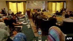 نشست مخالفان اجرای حکم اعدام در غزه در سال ۲۰۱۳