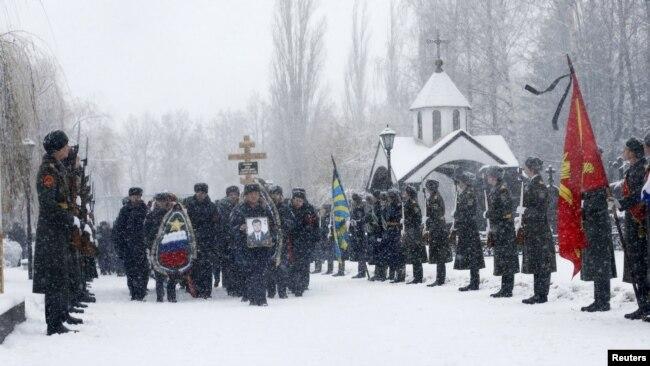 Похороны Олега Пешкова, Липецк, 2 декабря 2015 года