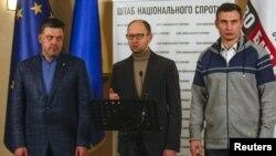 Олег Тягнибок, Арсеній Яценюк, Віталій Кличко
