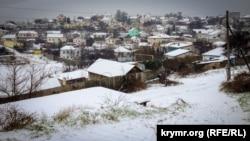 Сніг у Севастополі, архівне фото