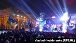 Ukrainë - Pritja e Vitit të Ri në Sheshin e Pavarësisë në Kiev, 01 janar, 2014