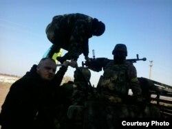 Дмитро Галко із захисниками Донецького аеропорту, «кіборгами», як їх називають у народі