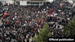 Protesta e Vetëvendosjes në Mitrovicë