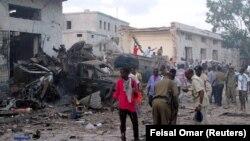 Сили безпеки на місці теракту в столиці Сомалі Могадішо, 28 жовтня 2017 року