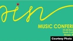 Постер за третото издание на ПИН музичката конференција во Македонија.
