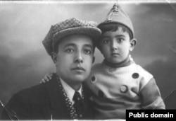 Эшреф Шемьи-заде с сыном, 1937 год