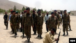 Pakistani army, deployed in Balochstan to root out terrorists. Some Baloch leaders claim the military is exploiting the region for its resources and marginalizing the Baloch population.