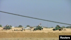 نیروهای امنیتی عراق در اطراف اردوگاه اشرف