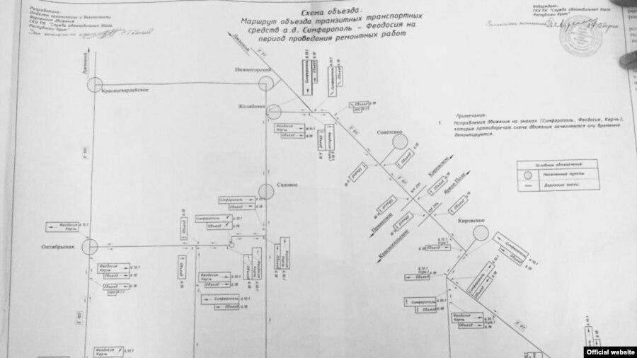 Схема объездного маршрута