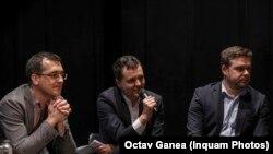 În imagine, Vlad Voiculescu (stânga), ar urma să fie viceprimar al Capitalei dacă va învinge alianța PNL-USR, Nicușor Dan va fi candidat la Primăria Capitalei, iar Ciprian Ciucu (dreapta), candidat la primăria sectorului VI