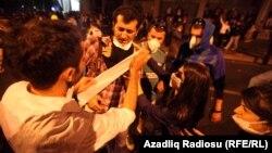 Стамбулдағы наразылық акциясы. 2 маусым 2013 жыл