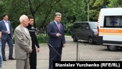 Юрій Солошенко, Геннадій Афанасьєв, Петро Порошенко у Києві, 14 червня 2016 року