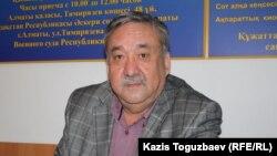Ренат Бердалиевтің адвокаты Ғабдрашит Нұрманов. Алматы, 2 сәуір 2013 жыл.
