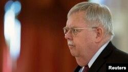 Джон Теффт на церемонії вручення вірчих грамот у Кремлі, 19 листопада 2014 року