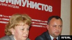 Igor Dodon și Zinaida Greceanîi