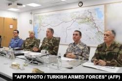 """Турецкие генералы обсуждают операцию """"Оливковая ветвь"""""""