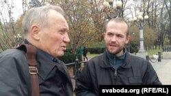 Уладзімер Някляеў і Васіль Парфянкоў у Кіеве 31 кастрычніка 2017 году