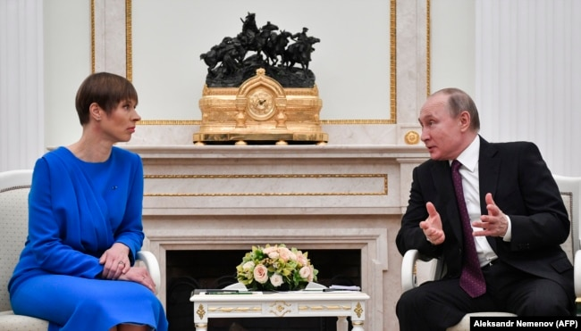 Встреча президента России Владимира Путина с президентом Эстонии Керсти Кальюлайд, Москва, 18 апреля 2019 года