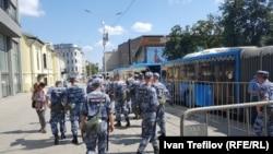 Ռուսաստան - Ոստիկանական ուժեր Մոսկվայում, 27-ը հուլիսի, 2019թ.
