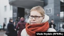 Maryna Zolatava in Minsk on February 12