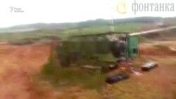 После ракетного обстрела с вертолета Ка-52