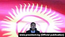 Ղրղըզստանի նախագահ Սադիր Ժապարովը հանրապետության 30-ամյակին նվիրված միջոցառմանը, Տալասի հովիտ, 29 օգոստոսի, 2021թ.