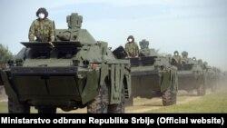 Примопредавање на преостанатите тенкови Т-72МС и оклопни извиднички возила БРДМ-2МС кои Русија претходно ѝ ги донираше на Србија.