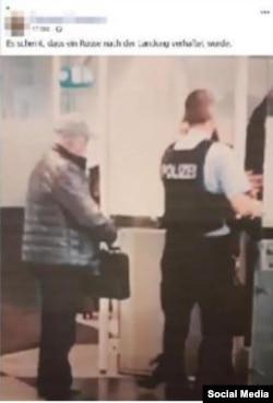 """Евгений Пригожин (или его """"двойник""""?) на паспортном контроле в аэропорту Мюнхена, январь 2020 года"""