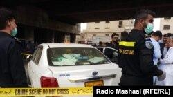 Карачида Хитой ишчилари ўлдирилган ҳудудни полиция текширмоқда.