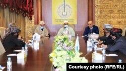 دیدار کمیته علمای هیئت گفتگو کننده حکومت افغانستان با اتحادیه جهانی علمای اسلام