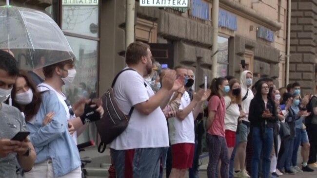 На акции в Минске поддержали арестованных